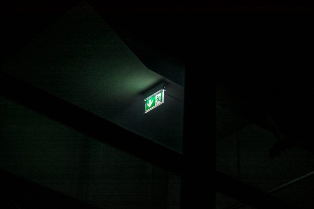 nooduitgang licht